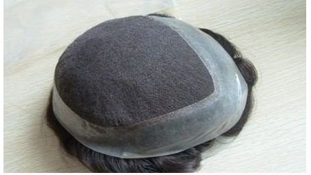 Protese masculina cabelo humano Micropele Finissima  com tela - Tamanho 16x24