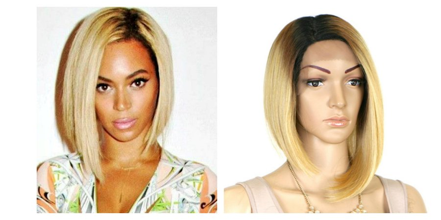 Lace front wig Beyoncé inspiration - Chanel de bico - modelo 05 - Varias cores - Encomenda