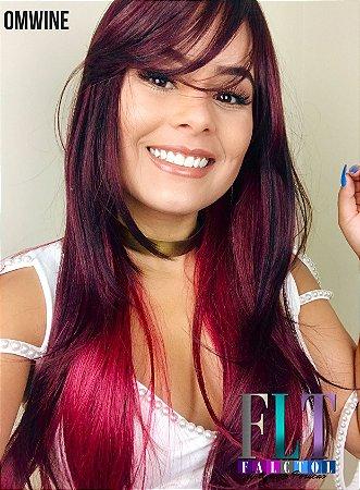 Wig com franja - Repicado - KAREN - Varias cores - Encomenda