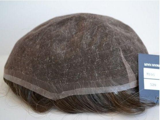 Prótese Capilar masculina  HD De Alta Definição - Tamanho 20X25  -  Cabelo 100% humano