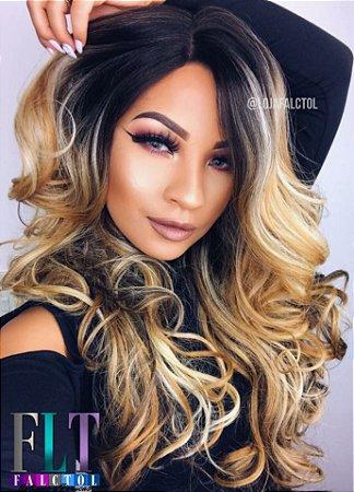 Peruca Lace front wig cacheada Delux premium - Emilia - Varias cores 60cm - Encomenda