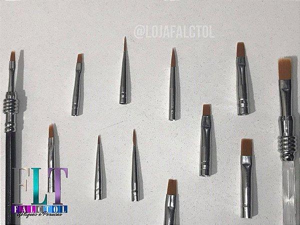 Kit de pinceis para decorar unhas 14 peças