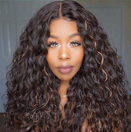 Peruca lace front wig cacheada Anya - Varias cores - Encomenda