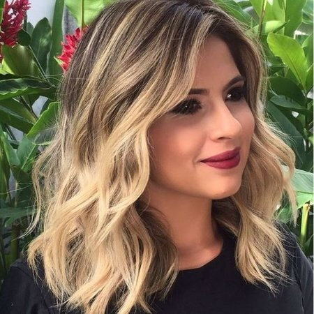 Peruca Lace front wig chanel cacheada loira com raiz esfumada Monica - PRONTA ENTREGA