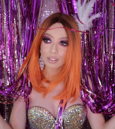 Peruca lace front wig Lolla laranja + PRONTA ENTREGA