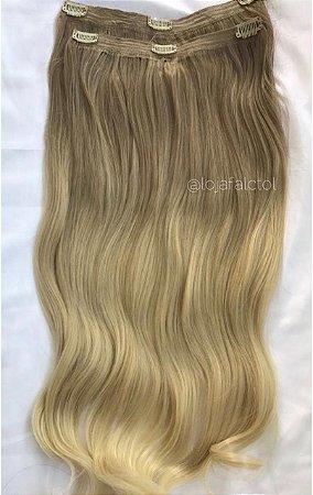 Aplique tic tac ombre hair loiro mechado