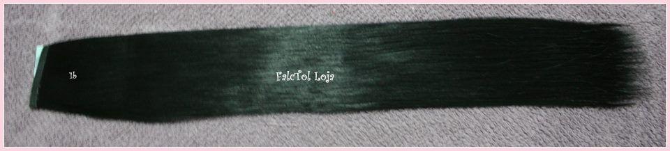 Aplique com Fita Adesiva sintetico Preto 1b- 50cm - 40gramas