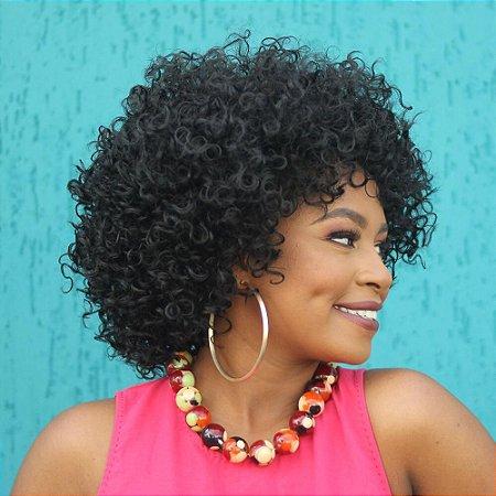 Peruca  wig cacheada curta Marissa - PRONTA ENTREGA