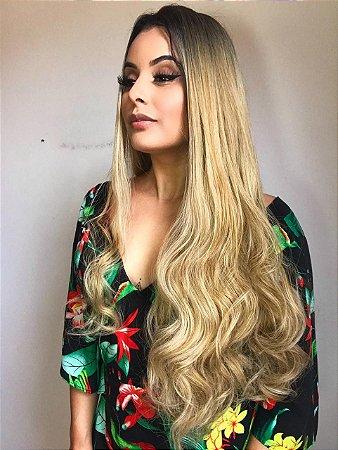 Peruca lace front wig - MIRELA cacheada - 75cm