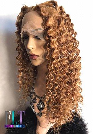 Peruca lace front wig cacheada Ruiva - VERONICA - PRONTA ENTREGA