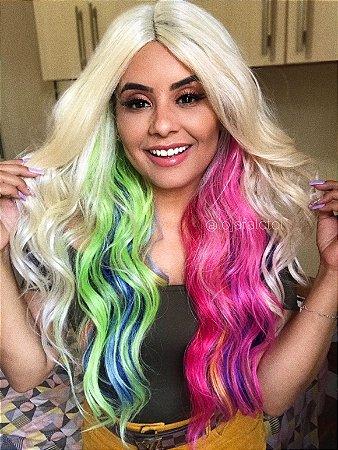 PRÉ VENDA - Peruca lace front wig cacheada CHESSY