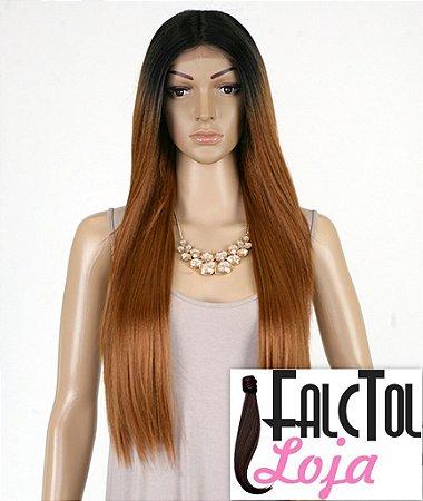 Custom Lace Wig - YAKI 30 - 1b/30 - Preto com ombrê- ENCOMENDA