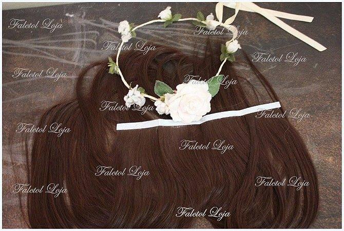 Aplique com Fita Adesiva sintetico Chocolate 4 - 50cm - 40gramas