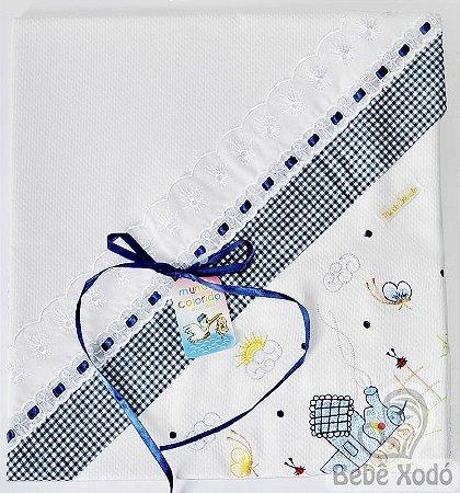 Mantas de Pique - Azul Marinho