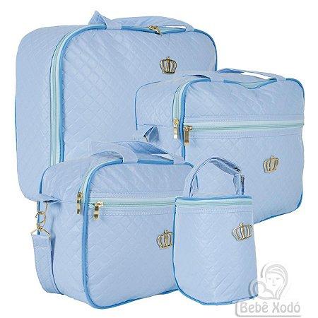 Conjunto de bolsas Madrid Azul bebê - 4 Peças
