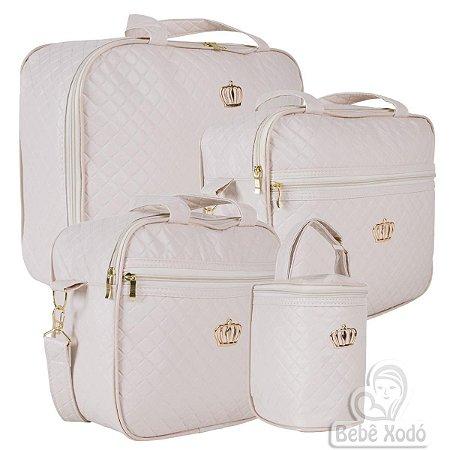 Conjunto de bolsas Madrid Bege - 4 peças