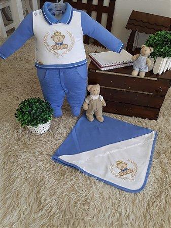 Saída de maternidade 3 peças  - Ursinho Azul bebê