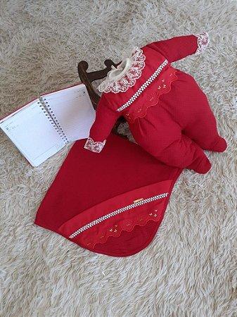 Saida de maternidade 3 peças no crochê - Poliana