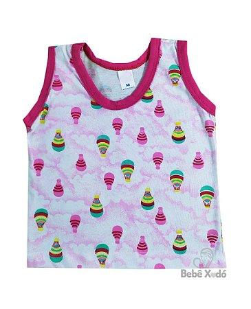 Camiseta Bebê  Regata Estampada P-M-G