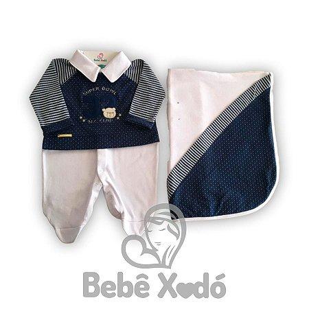 Saida Maternidade Ursinho 32 Azul Marinho - Plush