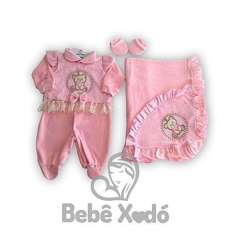 Saida Maternidade Ursinha Rosa Bebê - Plush