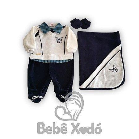Saida Maternidade Cavalinho Azul Marinho - Plush