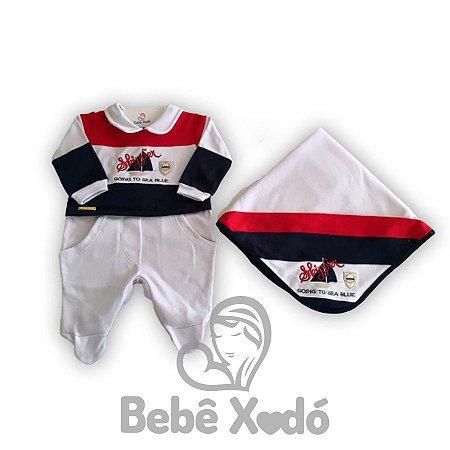 Saida Maternidade Barquinho Branco - Plush