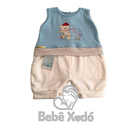 Banho de Sol Tamanho Único - Azul Bebê