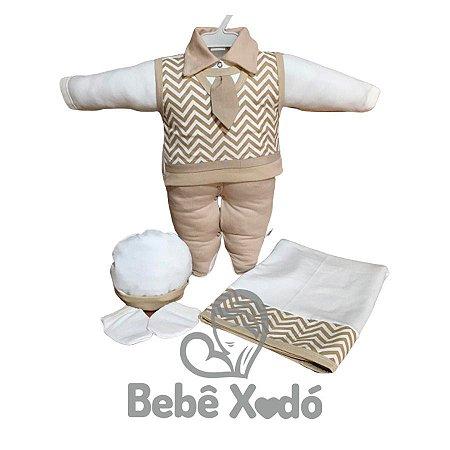 Saída Maternidade - Chevron Bege