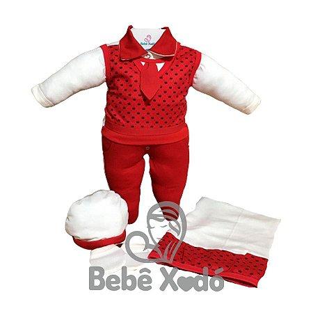 Saída Maternidade - Coroas Vermelho