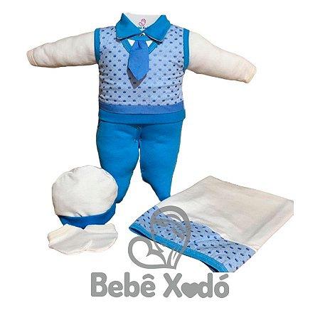 Saída Maternidade - Coroa Azul bebê