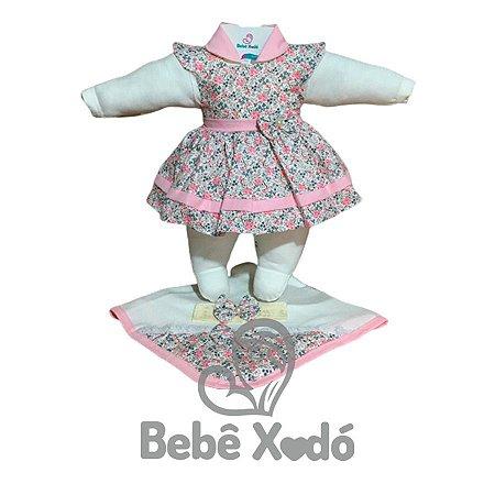 Saída Maternidade - Estampada Rosa bebê