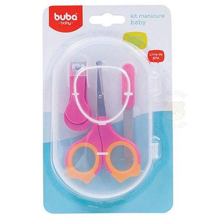 Kit Manicure Para Bebes Rosa - Buba