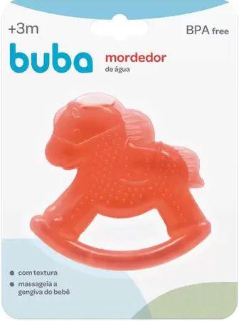Mordedor para Bebê Buba Gelado com Água Cavalinho Vermelho