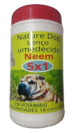 LENÇOS UMEDECIDOS NEMM PARA CÃES E GATOS NATURE DOG – 75 UNIDADES