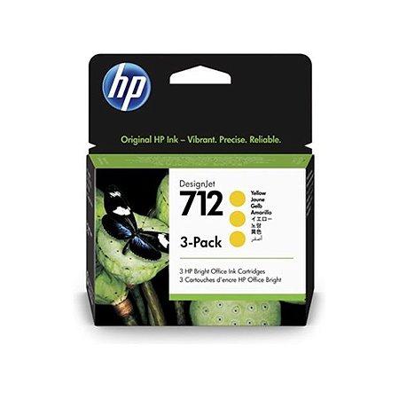 HP 712 Amarelo PLUK 29ml (3 unid)