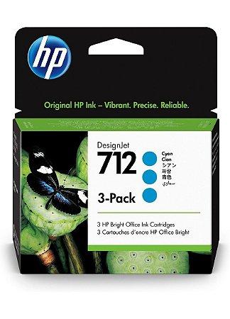 HP 712 Ciano PLUK 29ml (3 unid)