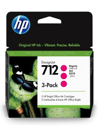 HP 712 Magenta PLUK 29ml (3 unid)