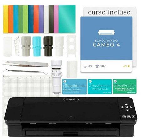 Silhouette CAMEO 4 - Impressora de Recorte Curso Grátis BLACK