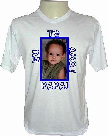Camiseta Personalizada - Com foto e frase