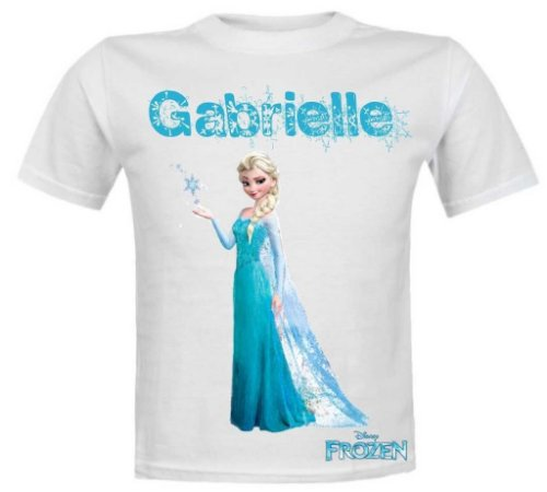 Camiseta Infantil Frozen Personalizada Com Nome