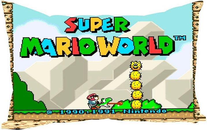Almofada Retrô Super Mario Wolrd