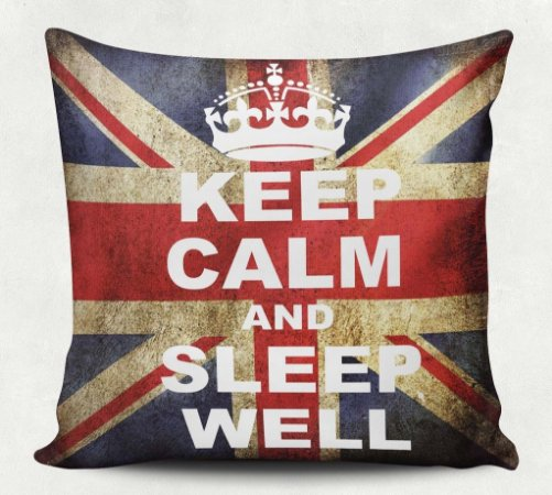 Almofada Keep Calm And Sleep Well