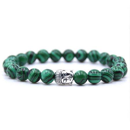 Pulseira Buda Jade Verde (Pedra Natural)