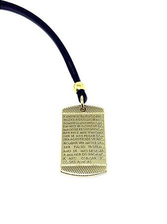 Cordão Preto Pai Nosso Dourado