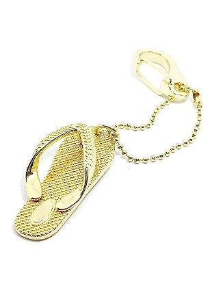Chaveiro Dourado Chinelo LUXO