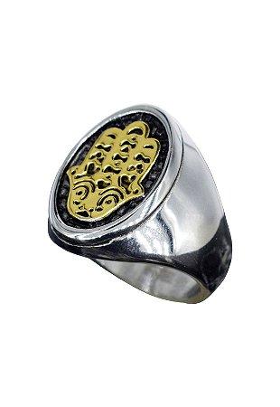 Anel Kodo Acessórios Mão de Hamsá Dourado
