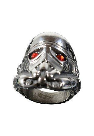 Anel Kodo Acessórios Mascara Prata