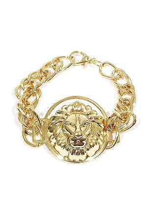 Pulseira Kodo Acessórios Leão Dourado