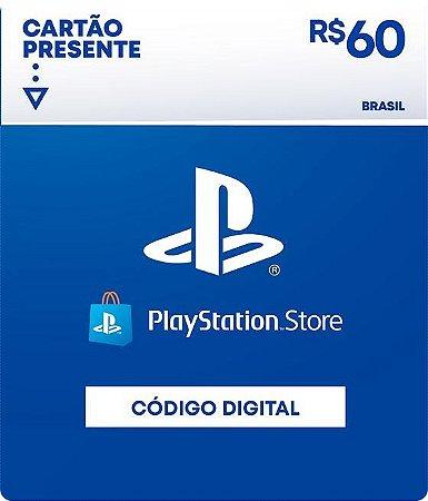 R$60 PlayStation Store - Cartão Presente Digital [Exclusivo Brasil]